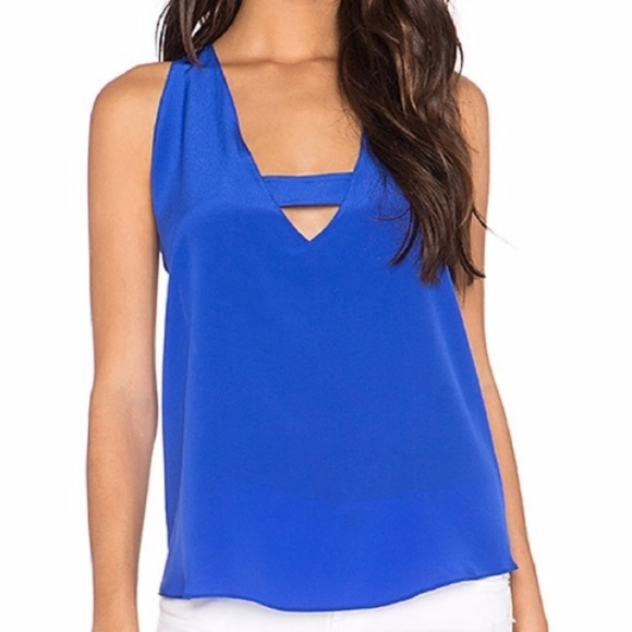 Rory Beca Tops - Rory Beca Luz 100% silk blue tank top cami blouse